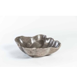 Marble Bowl in Irregular Shape in Gray