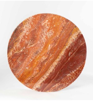 """Red Onyx Top Polished 48"""" Round x 2 1/2"""" Live Edge"""