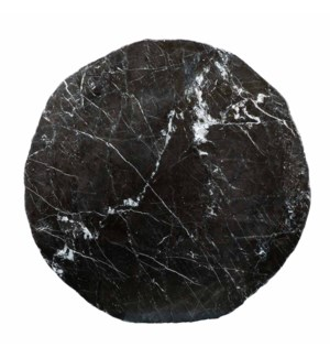 """Black Marble Top Polished 48"""" Round x 2 1/2"""" Live Edge"""