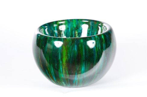 Double Sided Bowl in Green Flash Finish