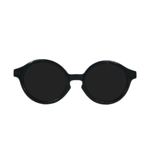 Babyfied Apparel - Sunglasses - Rounds - Glossy Black 2-24 months