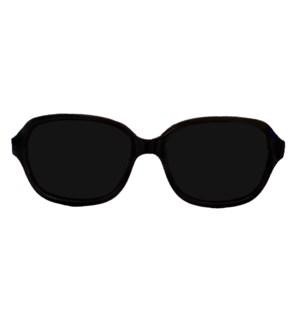 Babyfied Apparel - Sunglasses - Retro Squares - Glossy Black 2-24 months