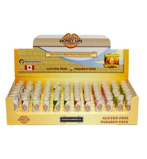 Assorted Lip Balm - 72 units with display