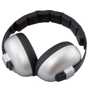 Infant Hearing Protection Earmuffs (2m+) - Silver One Size