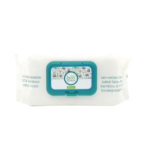 Biodegradable Bamboo Baby Wipes - 80ct