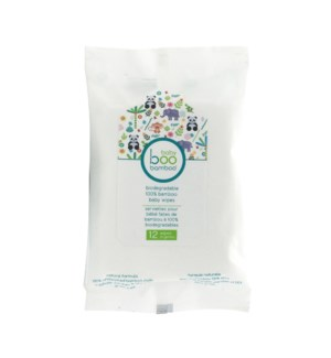 Biodegradable Bamboo Baby Wipes - 12ct