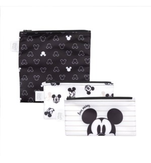 Disney - Reusable Snack Bag 3pk - Love Mickey