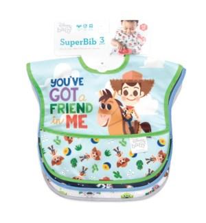Disney - Superbib 3pk - Woody, Buzz, Toy Story