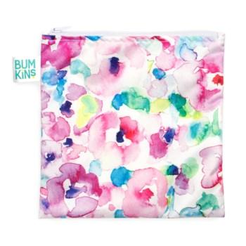 Reusable Snack Bag Large - Watercolour Flower