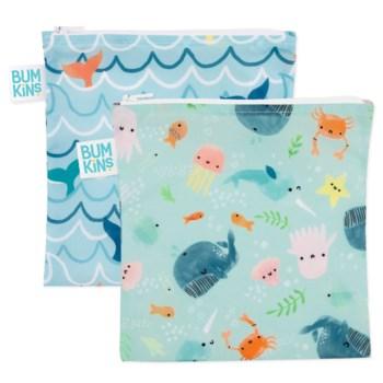 Large Snack Bag 2Pk - Ocean Life