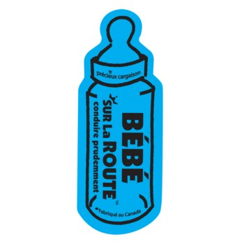 Baby on Route Magnet (French) - Blue One Size