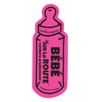 Baby on Route Magnet (French) - Pink One Size
