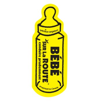 Baby on Route Magnet (French) - Yellow One Size