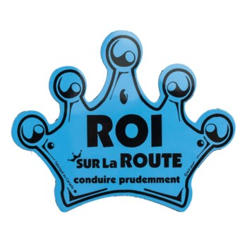 On Route Crown Magnet (French) - Blue One Size