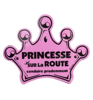 On Route Crown Magnet (French) - Pink One Size