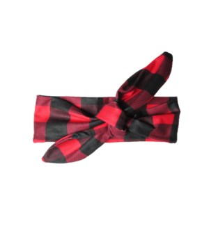 Baby Wisp - Top Knot Headband  Canadiana Red and Black 3m+