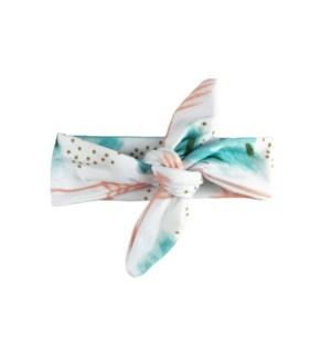 Baby Wisp - Top Knot Headband Laguna Beach Aqua & Coral 3m+