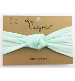 Nylon Turban Knot Infant Headband - Mint - 3M+