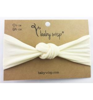 Nylon Turban Knot Infant Headband - Ivory - 3M+