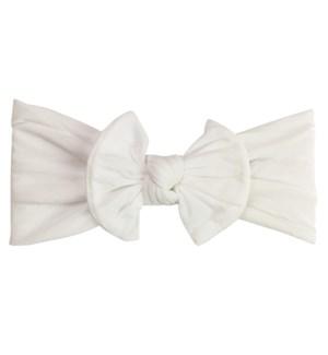Headband - Nylon Bow - White