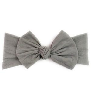 Headband - Nylon Bow - Grey