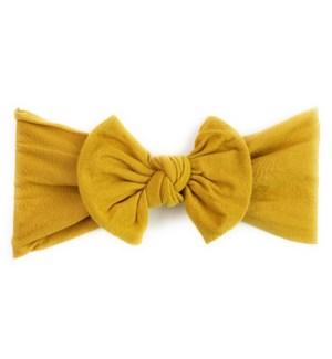Headband - Nylon Bow - Mustard