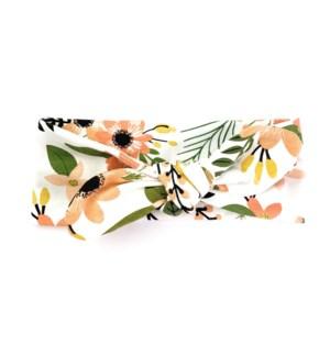 Top Knot Headband Peach Tropics 3m+