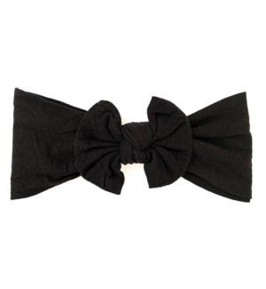 Headband - Nylon Bow - Black