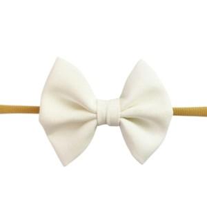 Fanny Bow Headband - White