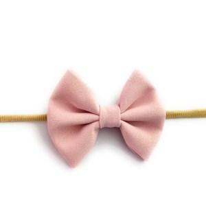 Fanny Bow Headband - Powder Pink