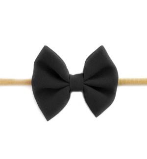 Fanny Bow Headband - Black