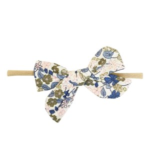 Headband - Victoria Bow - Blue Floral