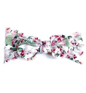 Headband - Nylon Bow - Begonia