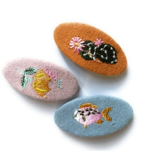 Large Snap Clips - 3 pk - Embroider - SOCAL