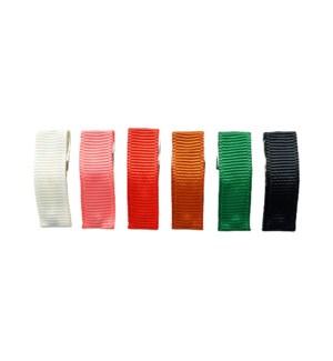 Small Snap Ribbon Clips - 6 pk - Autumn