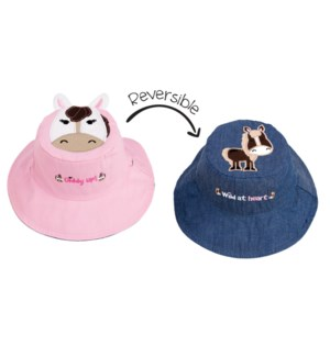 Kids UPF50+ Sun Hat - Horses Small