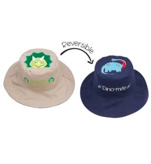 Kids UPF50+ Sun Hat - Dinosaurs Small