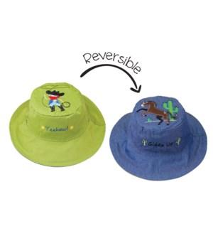 Kids UPF50+ Sun Hat - Cowboy Small