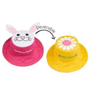Kids UPF50+ Sun Hat - Bunny/Daisy Small