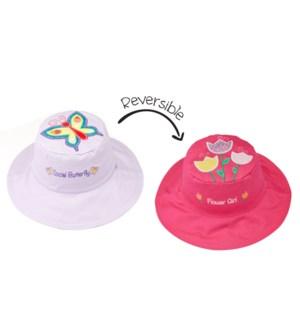 Kids UPF50+ Sun Hat - Butterfly/Flower Small