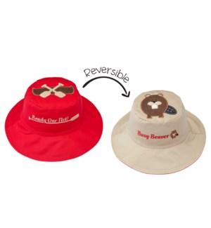 Kids UPF50+ Sun Hat - Canoe/Beaver Small