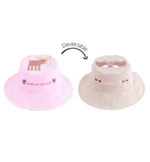 Kids UPF50+ Sun Hat - Moose/Canoe Small