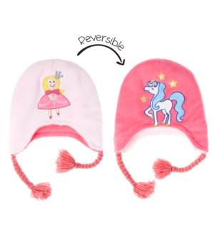 Kids UPF50+ Winter Hat - Princess/Unicorn Small