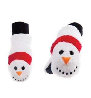 Kids Winter Mitts - Snowman 3-6Y