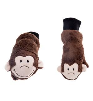 Kids UPF50+ Winter Mitts - Monkey 3-6Y