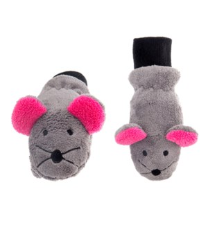 Kids UPF50+ Winter Mitts - Mouse 3-6Y