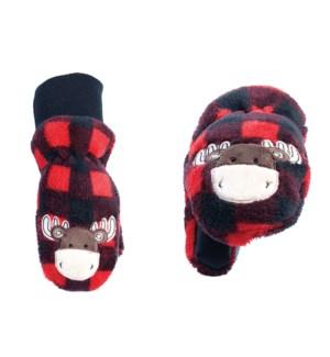 Kids UPF50+ Winter Mitts - Red Moose 3-6Y