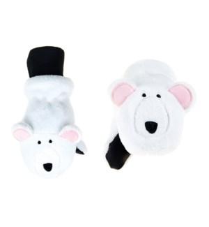 Kids UPF50+ Winter Mitts - Polar Bear 3-6Y