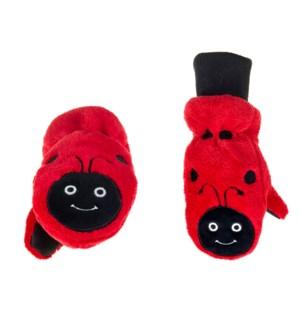 Kids UPF50+ Winter Mitts - Ladybug 3-6Y