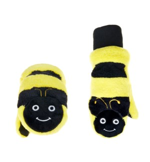 Kids UPF50+ Winter Mitts - Bumble Bee 3-6Y